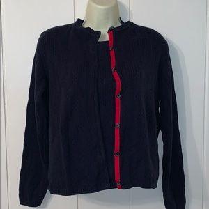 Vtg Liz Claiborne Lizsport navy blue sweater set